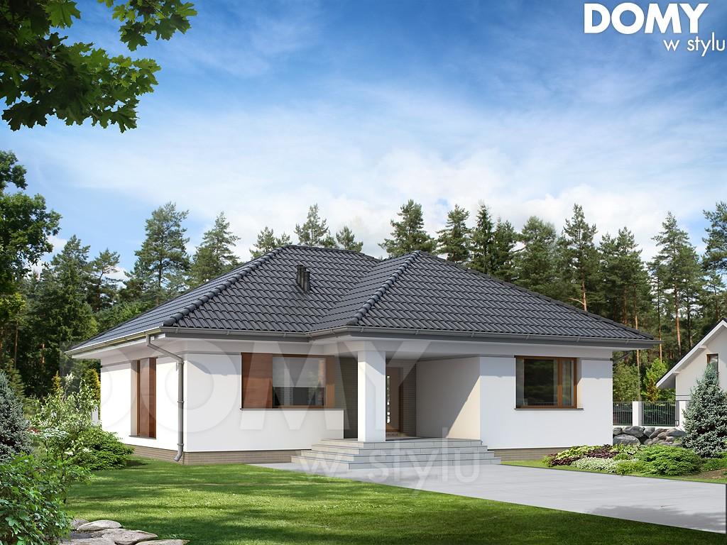 2-projekt domu jednorodzinnego parterowego