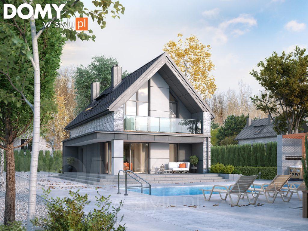 projekt domu z wizją na przyszłość - poddasze